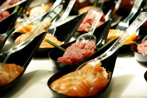 Tartara di Tonno al Wasabi e Carpaccio di Salmone all'Aneto